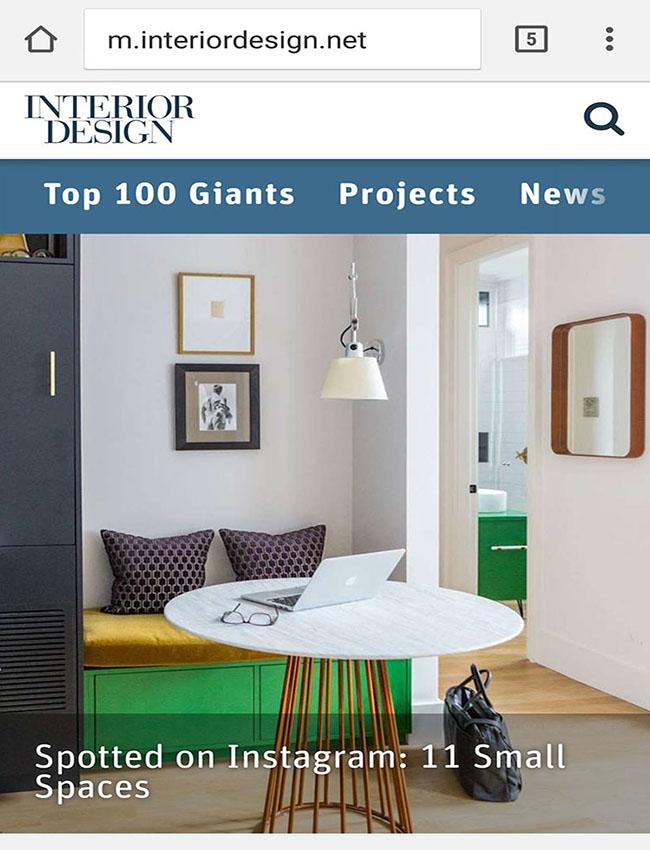 Interior Design Magazine - Spotted on Instagram