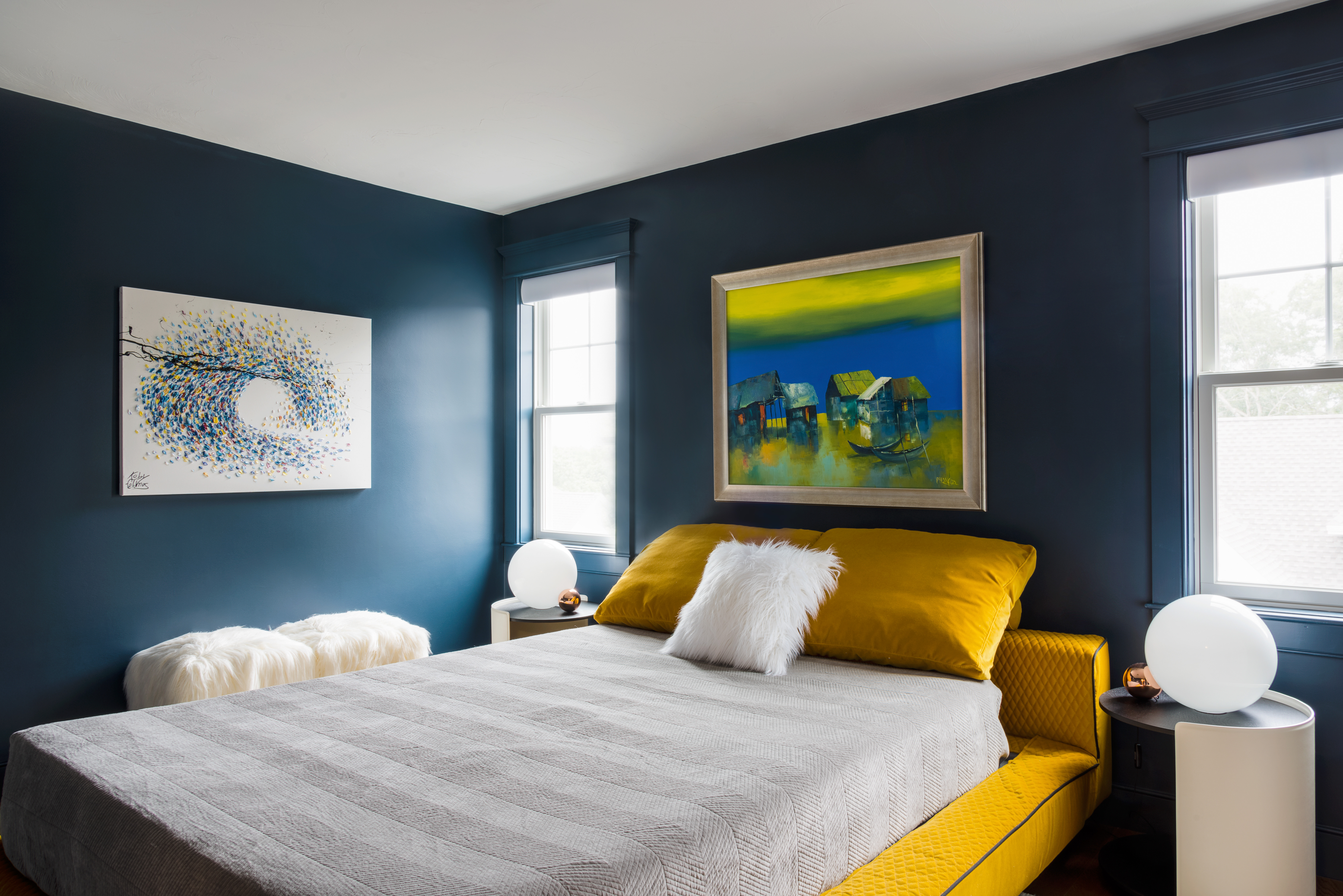 Boston Magazine - A Bland Bedroom Gets a Bold, Modern Makeover